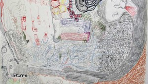 "Glenn Downing's drawing ""Thor"" represents the outer edge of Regional Juried Exhibition."