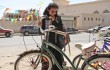 Waad Mohammed eyes a green bike and freedom in Wadjda.