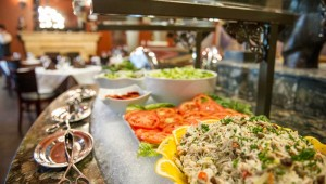 Your first course, the salad bar, could be an entire gourmet meal on its own.