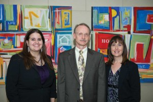 """Wilson, left, with Mike Auman and Amy Snyder: """"These kids enrich our community. They aren't a burden."""""""
