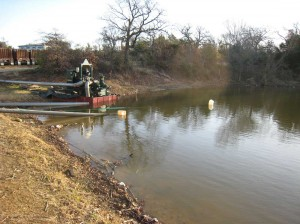 XTO's pump stayed in Pappy Elkins Lake after its permit period had expired. Courtesy Steve Flowers