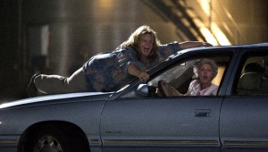 Melissa McCarthy and Susan Sarandon play a very reckless car game in Tammy.