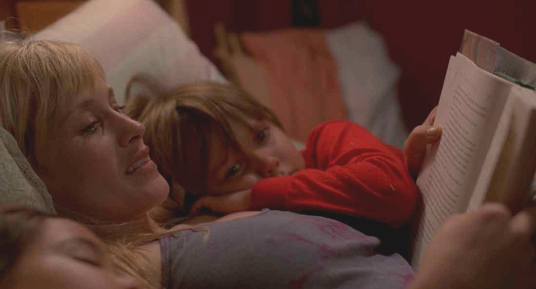 Patricia Arquette reads one of the Harry Potter books to Ellar Coltrane early in Boyhood.