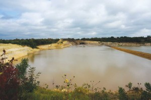 The quarry was filled with slurry early in the dredging ... Courtesy Joe Waller