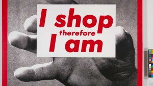 Barbara Kruger's untitled work is part of Urban Theater.