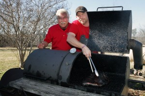 BBQ Ranch owner Mike Fisher, left, and pitmaster Donald Phillips run a family-friendly place. Lee Chastain