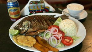 "El Balconcito's mojarra fritta is ""a tasty example of coastal Colombian cooking."""