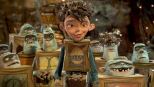 His name's on the box! Eggs prepares to lead his tribe in The Boxtrolls.