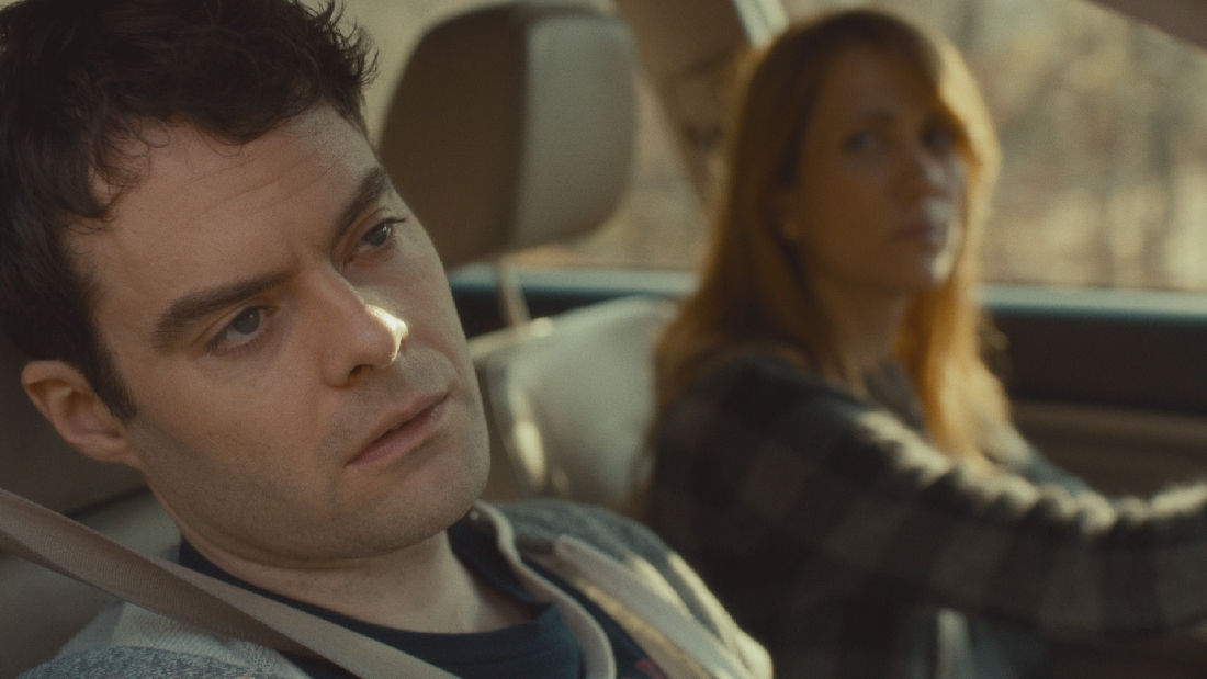 Kristen Wiig drives Bill Hader home from the hospital in The Skeleton Twins.