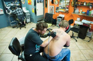 The best designs in town go down at InkTwister.  Brian Hutson