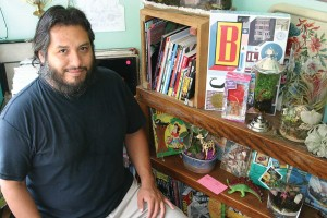 Frank Garcia co-owns Ephemera!, where you can buy comics or build your own terrarium. Jeff Prince