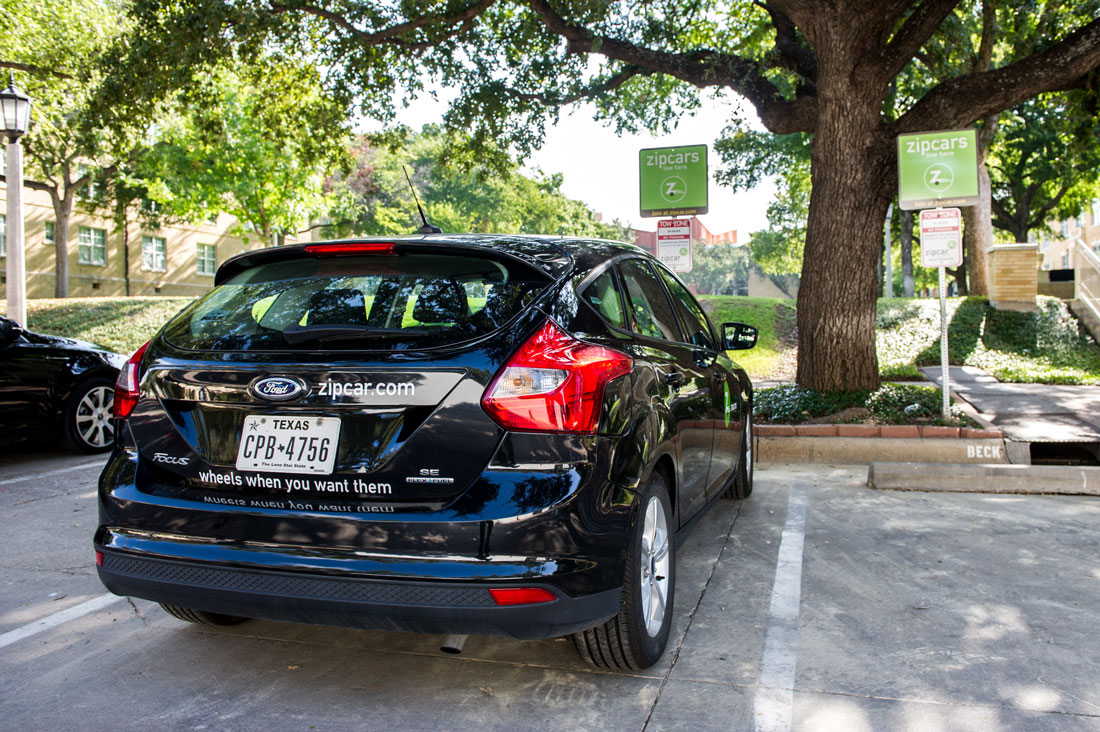 Zipcar, one of several new ridesharing arrangements, caters to TCU students and faculty. Brian Hutson