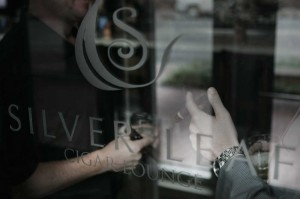 Silverleaf Cigar Lounge is tops for fine cocktails and even finer cigars.  Lee Chastain