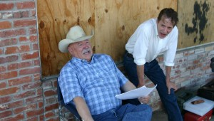 BARRY CORBIN AND JOE STEVENS DISCUSS A SCENE ON A HOT AFTERNOON IN GAINESVILLE (Photo by Jeff Prince)