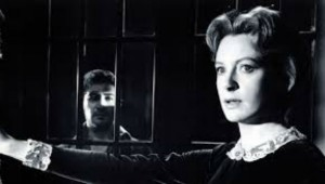 "Peter Wyngarde haunts Deborah Kerr in ""The Innocents""."