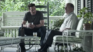 "Robert Downey Jr. and Robert Duvall work out legal strategy and family issues in ""The Judge."""