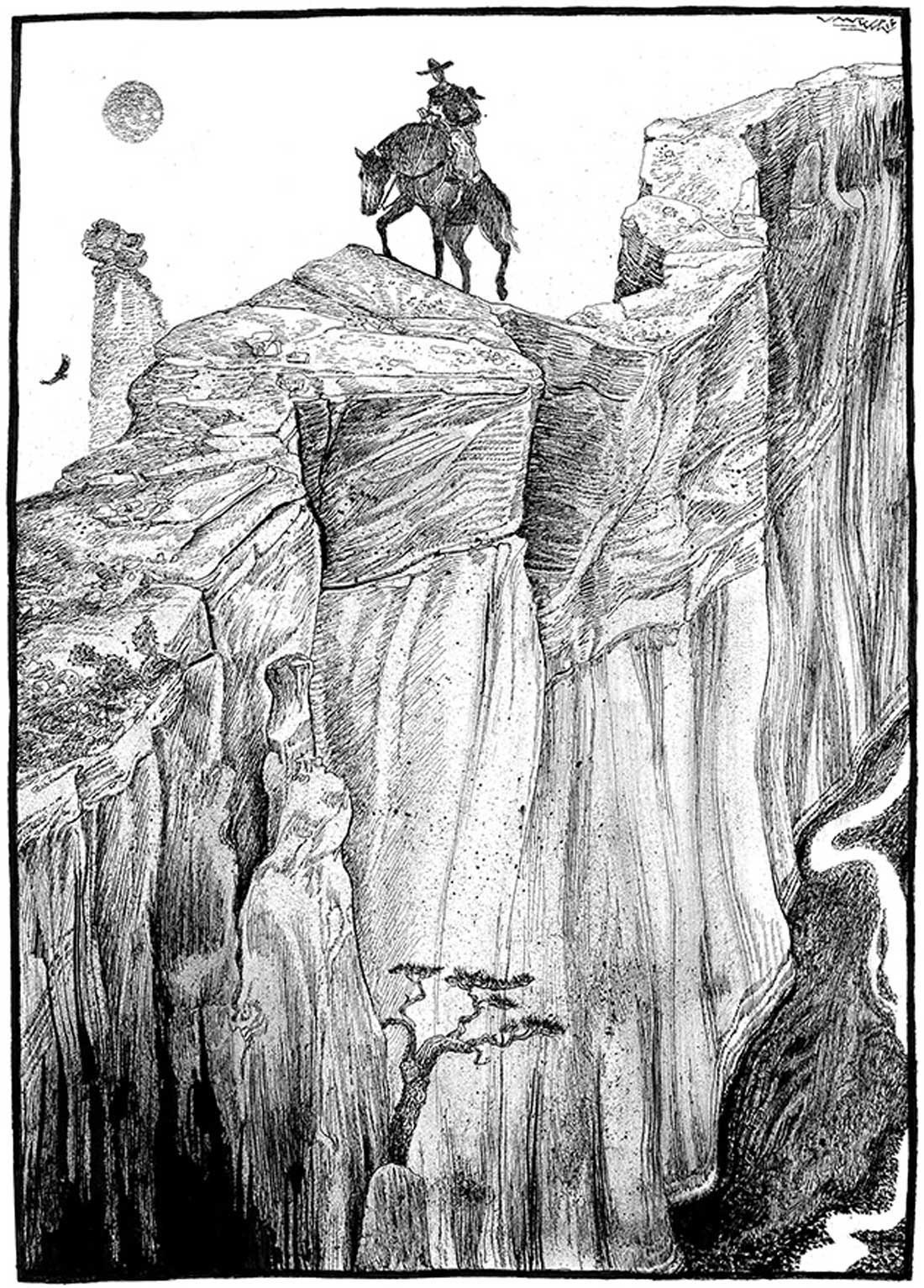 In a climactic scene in The Devil's Backbone, Papa and his protector traverse the titular rocky ledge.