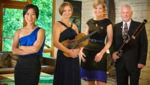 (From left to right) Jennifer Chang, Aleksandra Holowka, Karen Hall, and Kevin Hall brought the music to the masses Sunday.