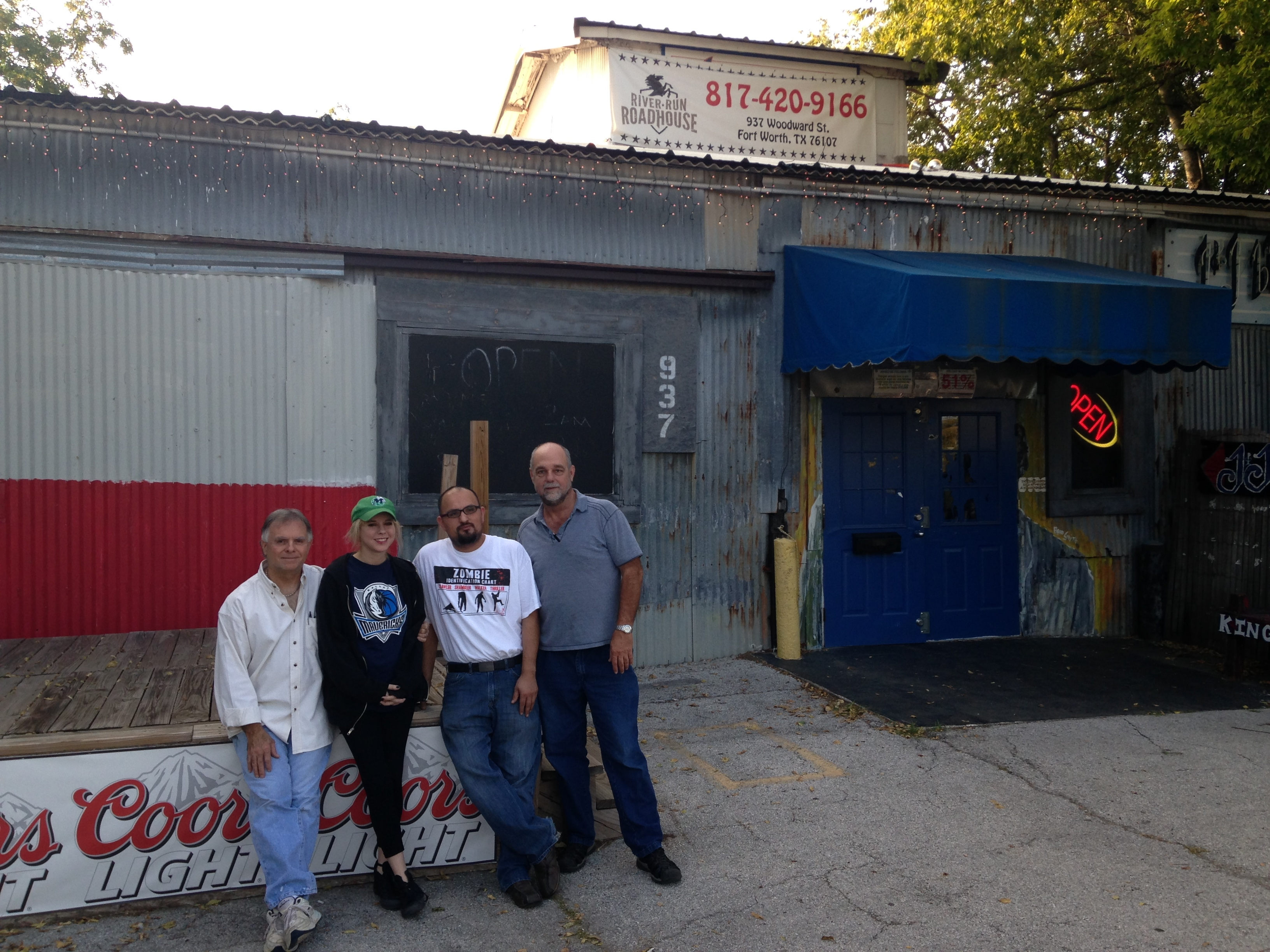 (From left to right) co-owner Robert Holt, booking agent/bartender Elizabeth Honea, head bartender Roy Cordova, and co-owner Don Stephan are ready for River Run Roadhouse to become a destination for all sorts of music, including indie-rock.
