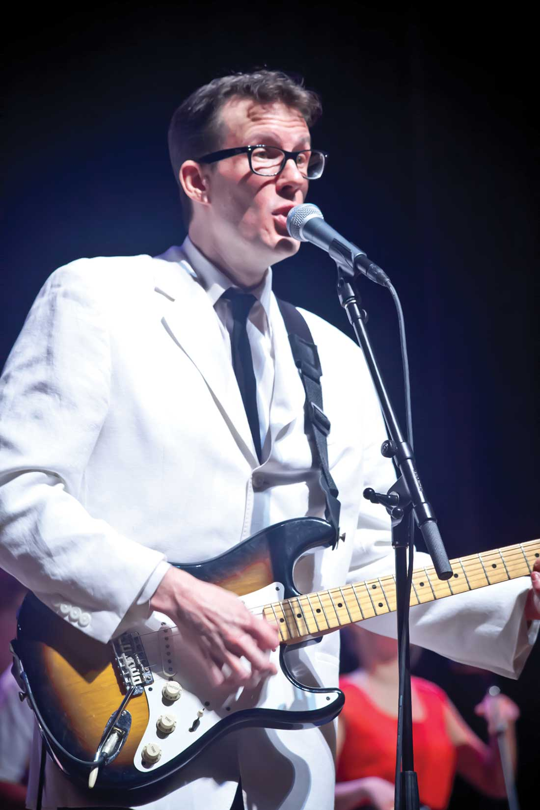 Kevin Kratzke plays Buddy Holly in Texas Family Musicals' farewell show, Fri.