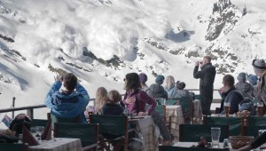 An avalanche gets too close for comfort to a ski resort in Force Majeure, at the Modern. See Friday.