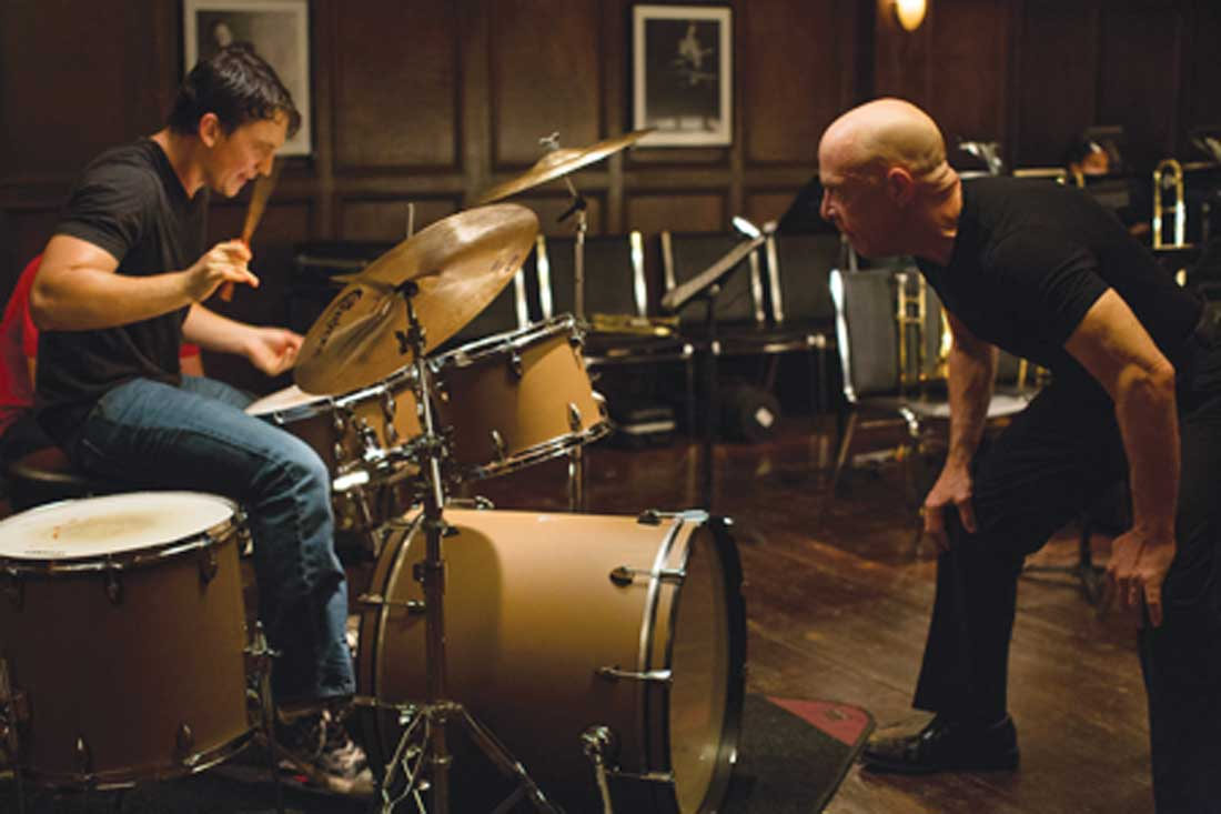 Miles Teller and J.K. Simmons in Whiplash at the Modern.