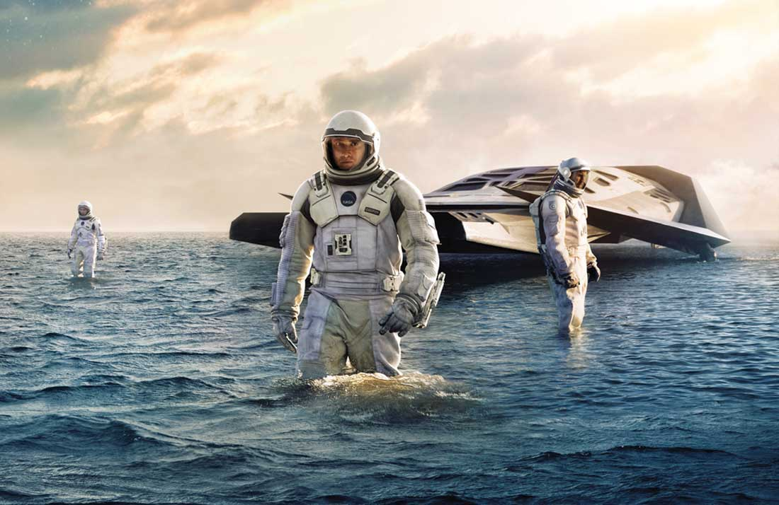 Matthew McConaughey explores a whole new world in Interstellar.