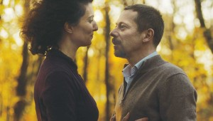 Stéphanie Cléau and Mathieu Amalric have an affair that ends in murder in The Blue Room.