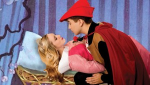 Abi Oxley and AJ Azer create a familiar tableau in a new venue in Artisan Center Theater's Disney's Sleeping Beauty.
