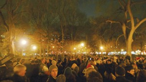 A shot from last year's Unsilent Night event in New York. CD/FW holds it here, Fri.