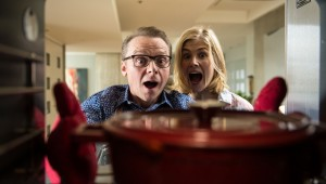 Yes, your movie is that terrible. Simon Pegg and Rosamund Pike in Hector and the Search for Happiness.