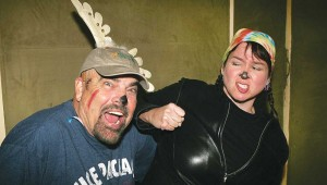 Bob Allen and Melinda Wood Allen want Santa to be held accountable in The Eight: Reindeer Monologues. Lee Chastain