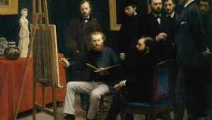 "Henri Fantin-Latour's striking ""A Studio at Les Batignolles"" is a group portrait."