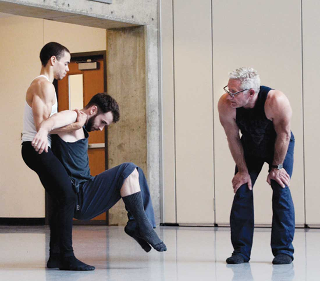 Bruce Wood (right) rehearses dancers in this photo at AMA.