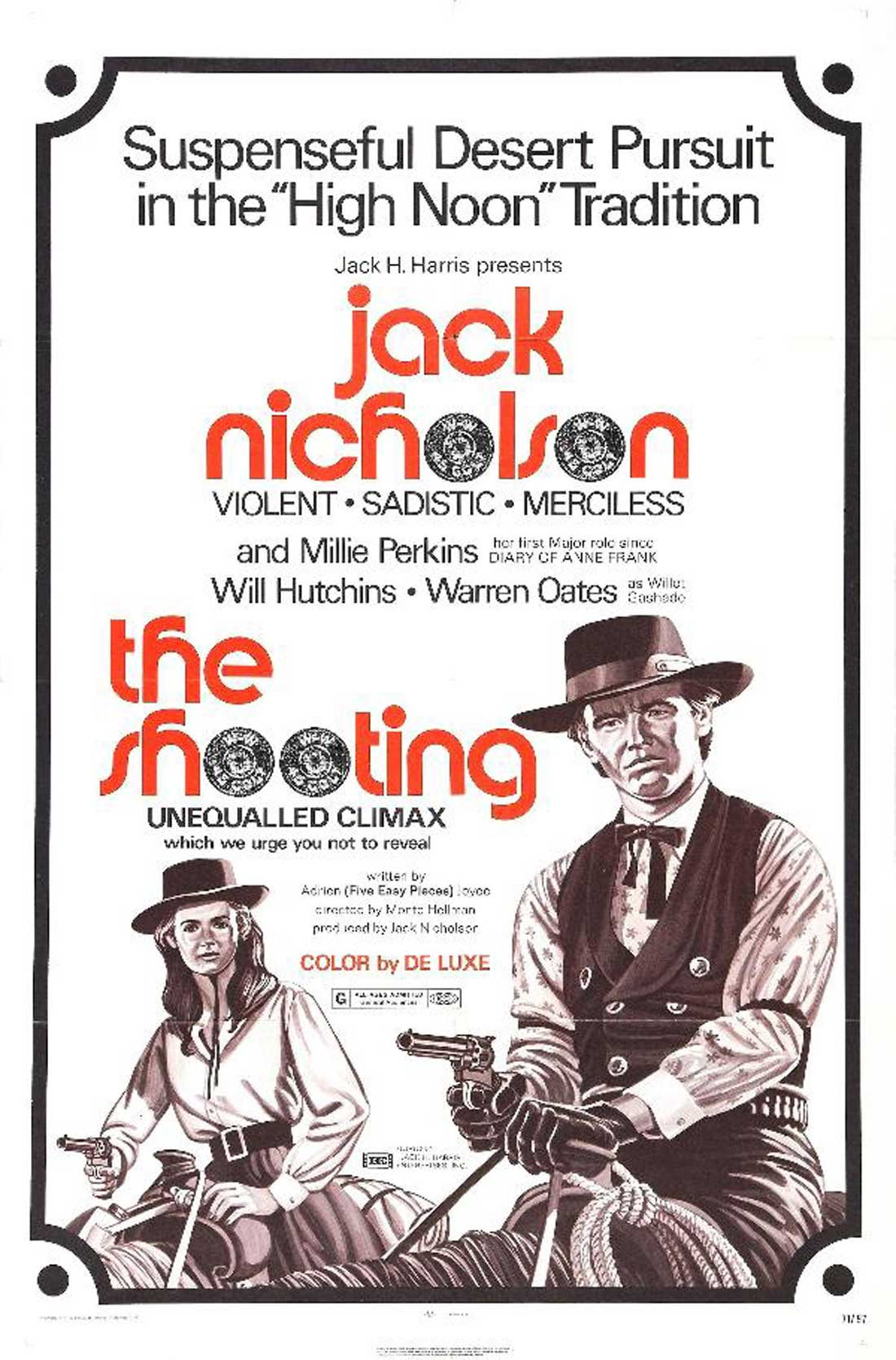 A poster for The Shooting, playing at the Modern as part of ArthouseFW.