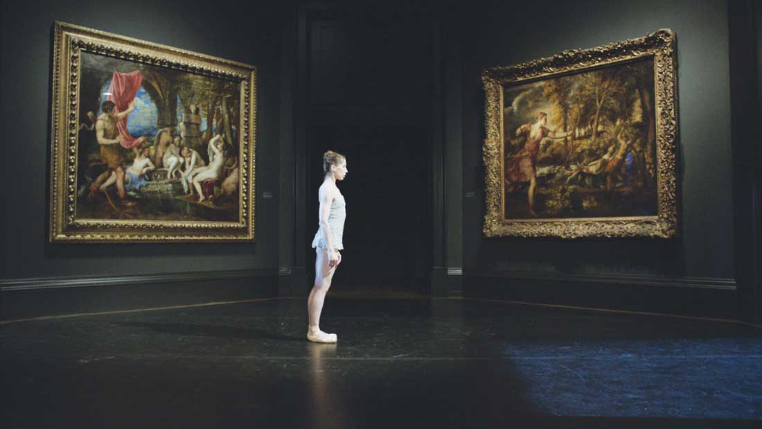 Dancer LeAnn Benjamin performs in a hallowed museum's exhibition space in National Gallery at the Modern. See Friday.