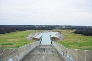 Joe Pool Lake's dam.