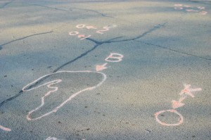Police crime scene paint