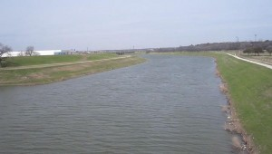 THE TRINITY RIVER IN FORT WORTH (courtesy wikimedia)