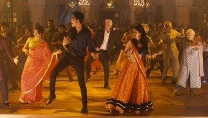 "The cast kicks up their heels at a wedding dance at the end of ""The Second Best Exotic Marigold Hotel."""
