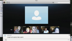 A mysterious Skype user harasses Shelley Henig (left), Moses Storm (second from left), and others in Unfriended.