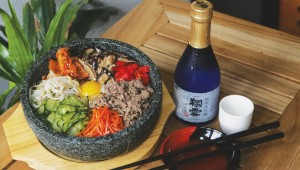 A hot stone bowl and cold sake are calling from HoYA. Photo by Lee Chastain.