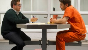 Jonah Hill and James Franco have a heart-to-heart in county jail in True Story.