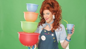 Dixie Longate (get it?) returns with her wares in Dixie's Tupperware Party at McDavid Studio.