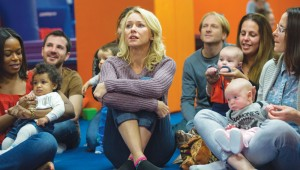 Naomi Watts is the only grown-up at baby class without a baby in While We're Young.