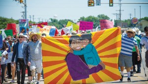 Protestors in South Texas march against ICE's newest facility.