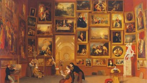 "Samuel Morse's ""Gallery of the Louvre,"" at Amon Carter Museum."