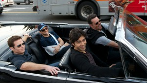 "Kevin Connolly, Jerry Ferrara, Adrian Grenier, and Kevin Dillon live the 1% life in ""Entourage."""