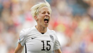 Megan Rapinoe was good for two goals against Australia.