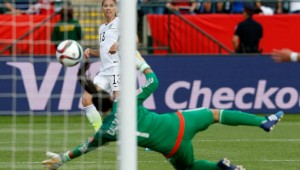 Alex Morgan scored for USA against Colombia.